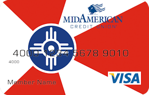 Wichita city flag debit card design