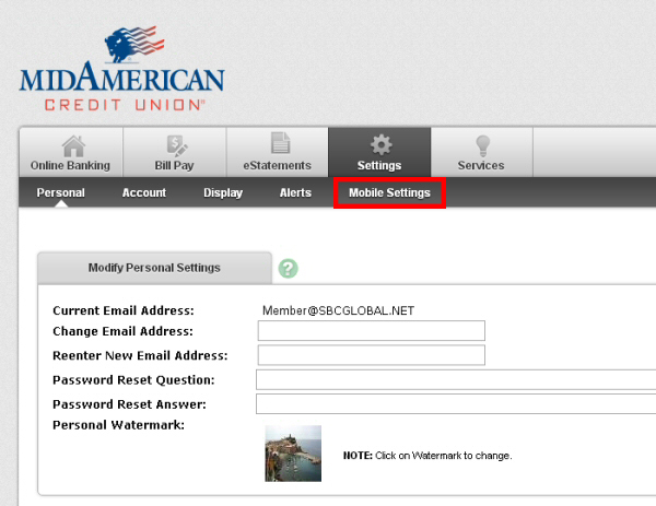 Activate Mobile Banking Mid American Credit Union