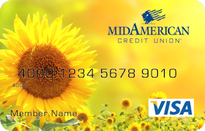 Sunflower debit card design