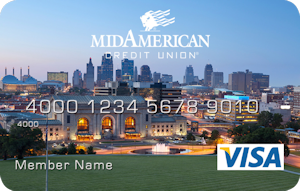 Kansas City skyline debit card design